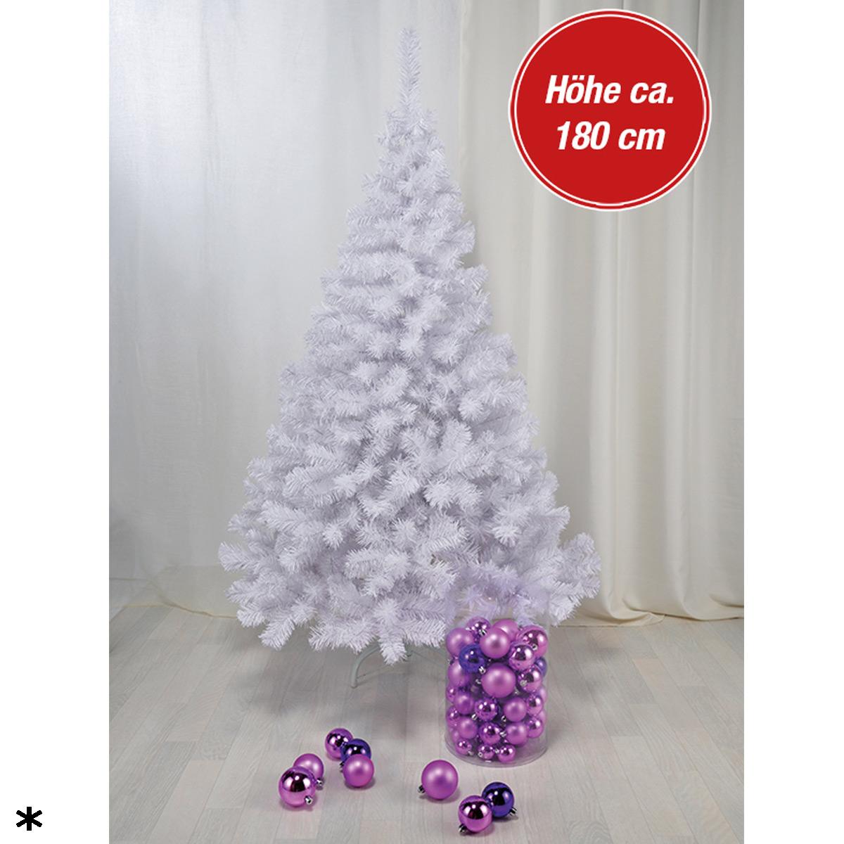 weihnachtsbaum k nstlich christbaum wei tannenbaum weihnachten dekoration 180cm ebay. Black Bedroom Furniture Sets. Home Design Ideas