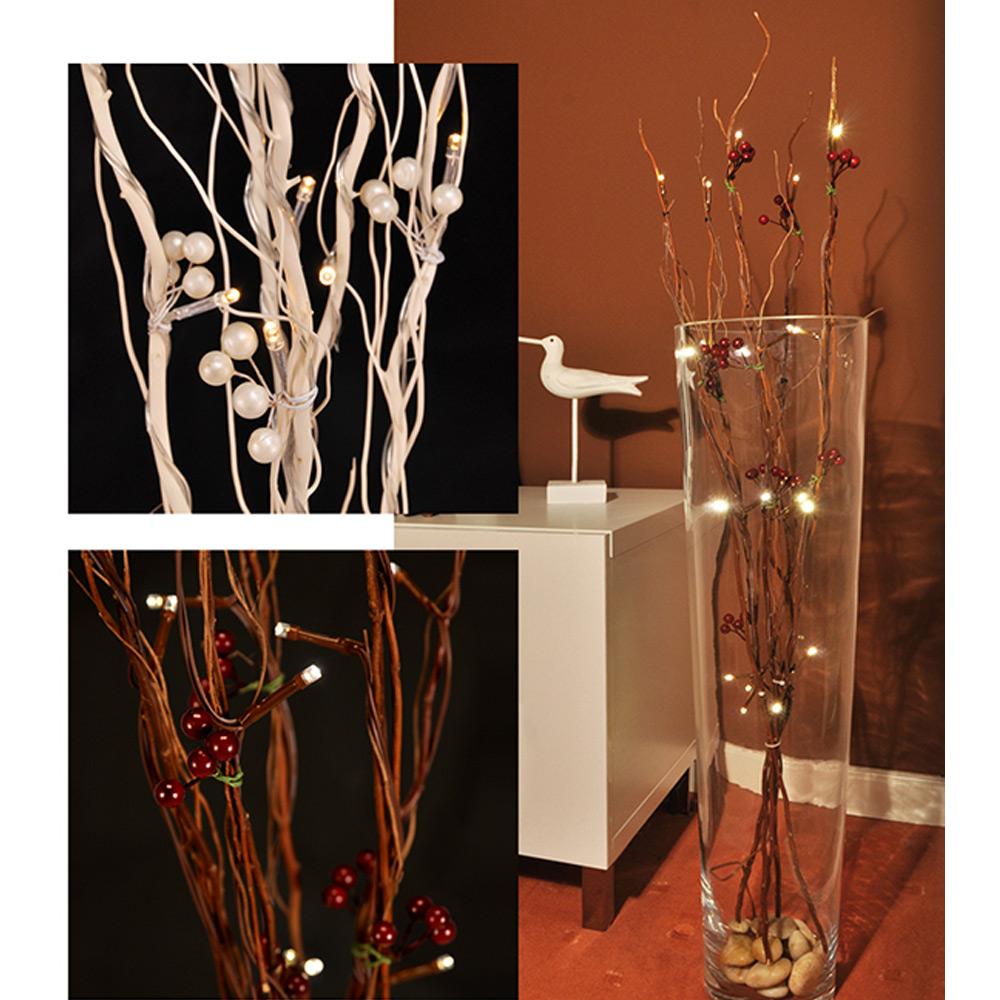 led beleuchtete lichterzweige deko zweige beleuchtet lichterbaum weidenzweige 90 ebay. Black Bedroom Furniture Sets. Home Design Ideas