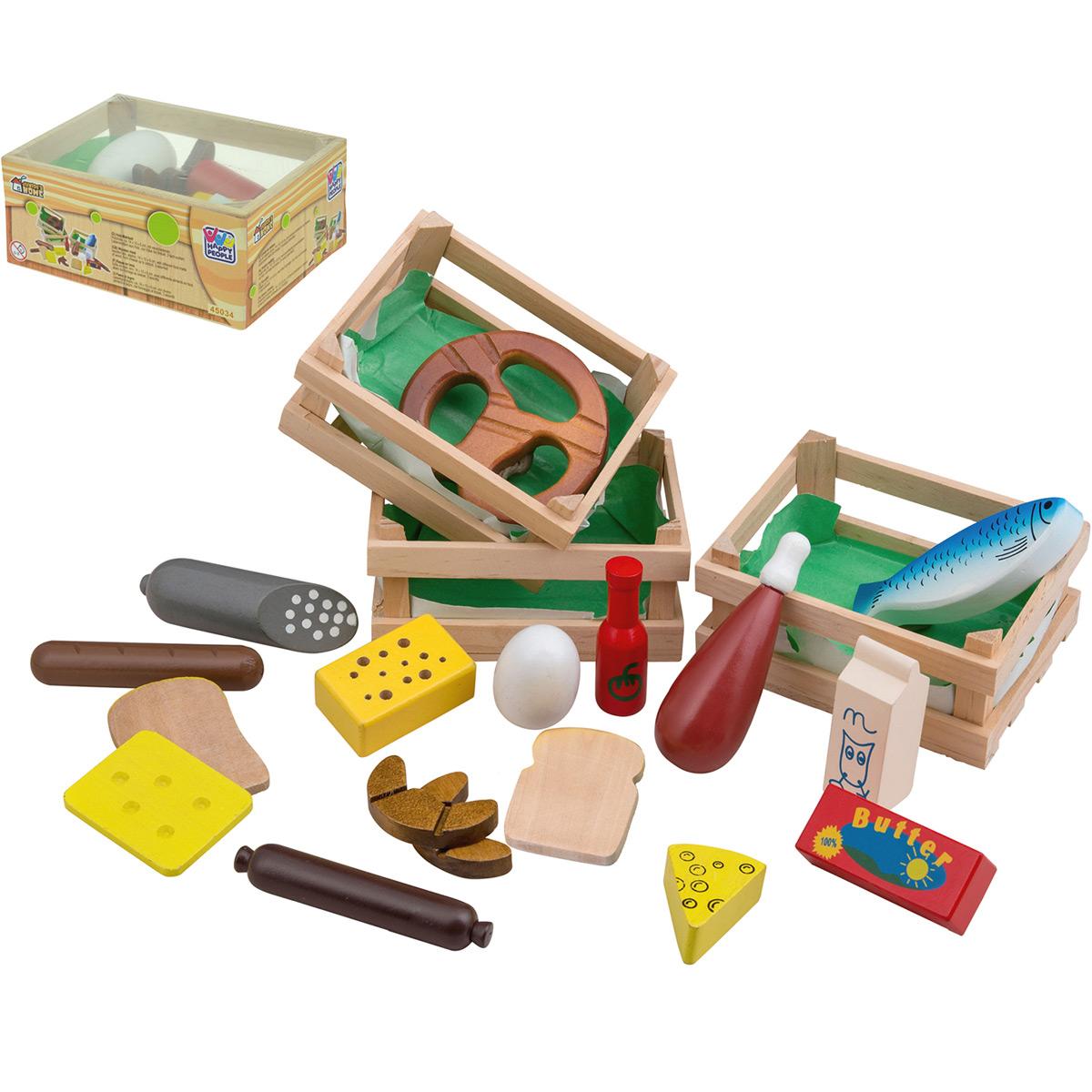 kaufladen kiste holz lebensmittel spielzeug kinderk che zubeh r kaufmannsladen ebay. Black Bedroom Furniture Sets. Home Design Ideas