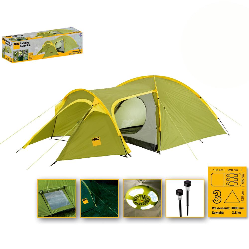 ADAC-3-Personen-Camping-Iglu-Zelt-Outdoor-Campingzelt-Kuppelzelt-mit-Innenzelt