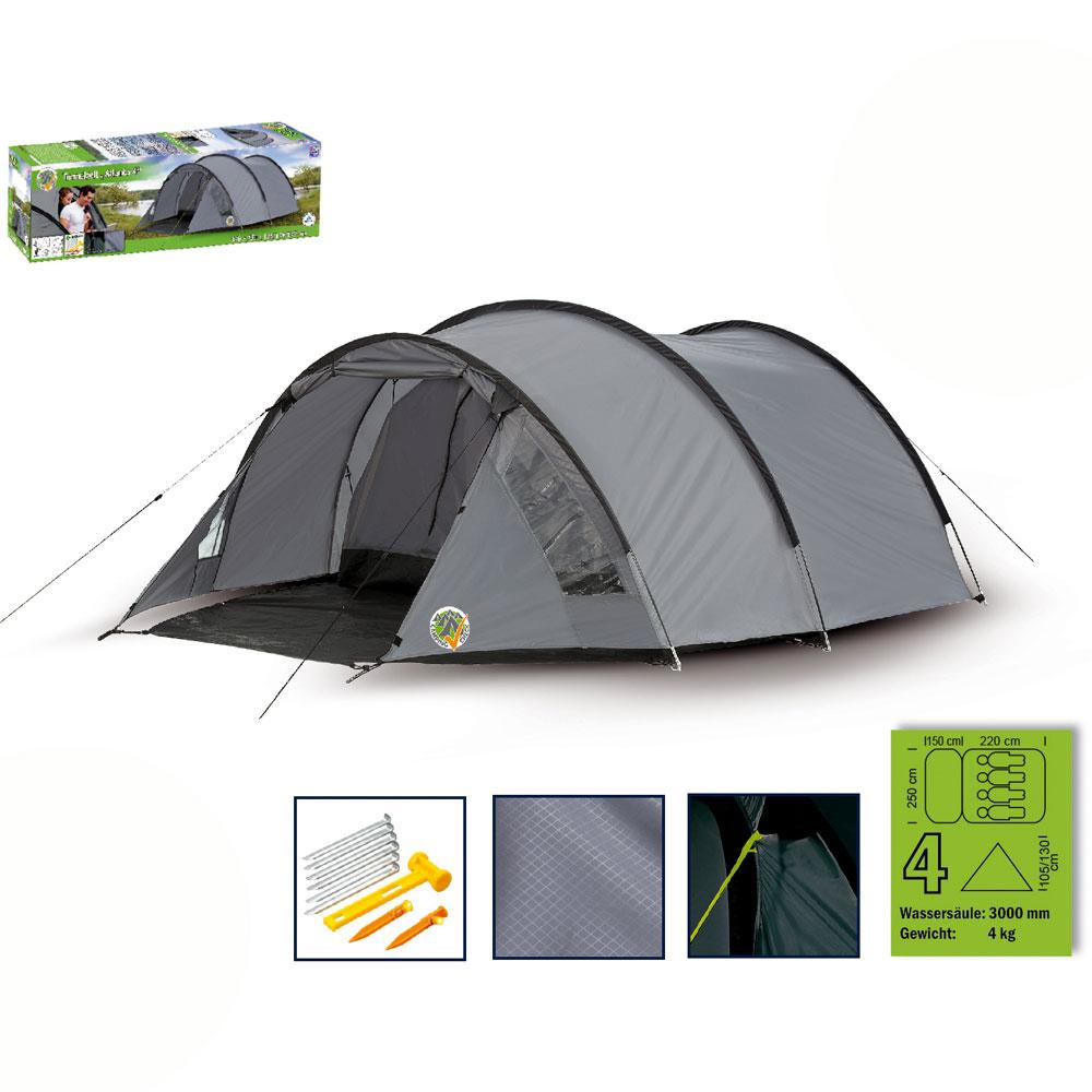 camping tunnel zelt familienzelt tunnelzelt 4 personen. Black Bedroom Furniture Sets. Home Design Ideas