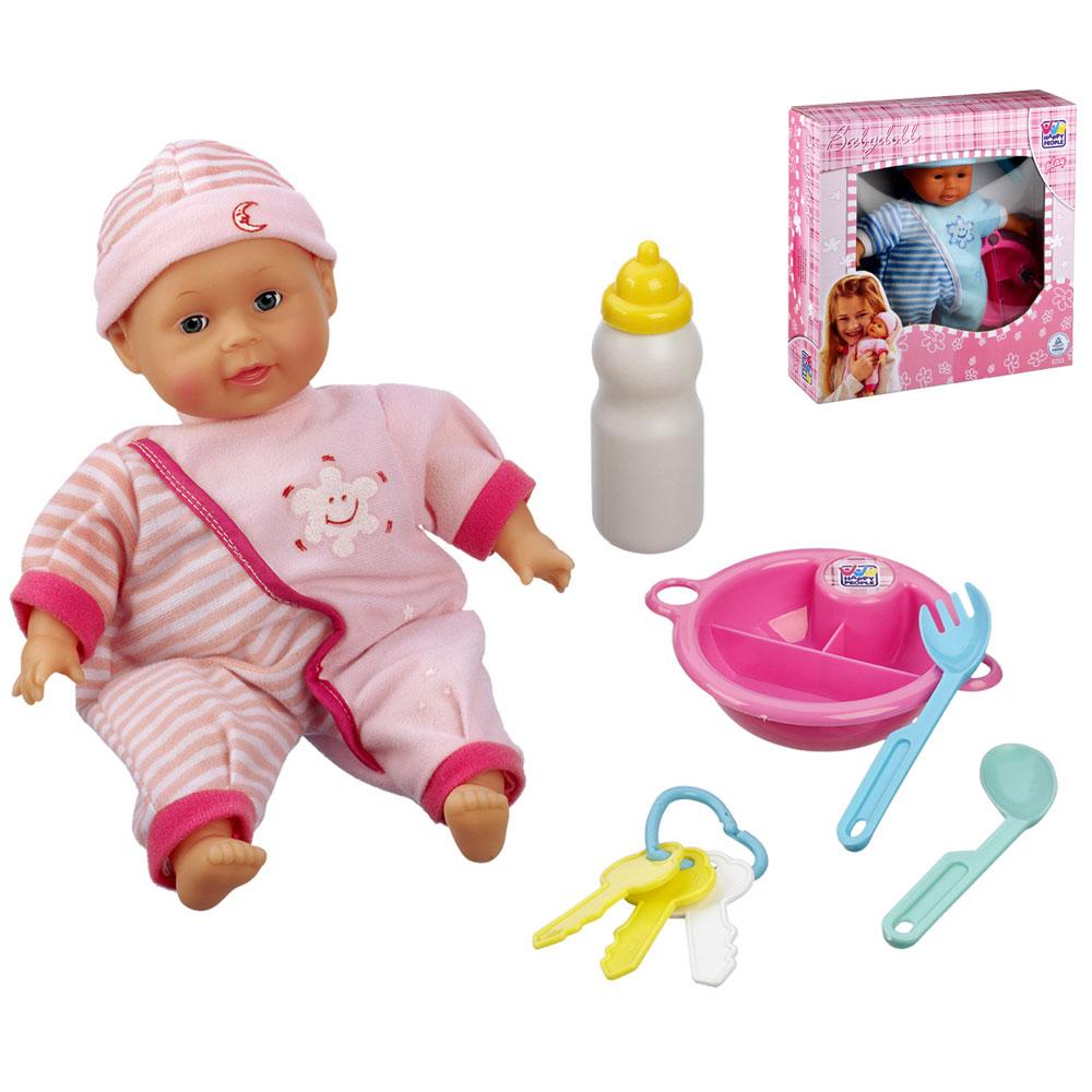Babypuppe cm inkl zubehör puppen spielzeug zum füttern