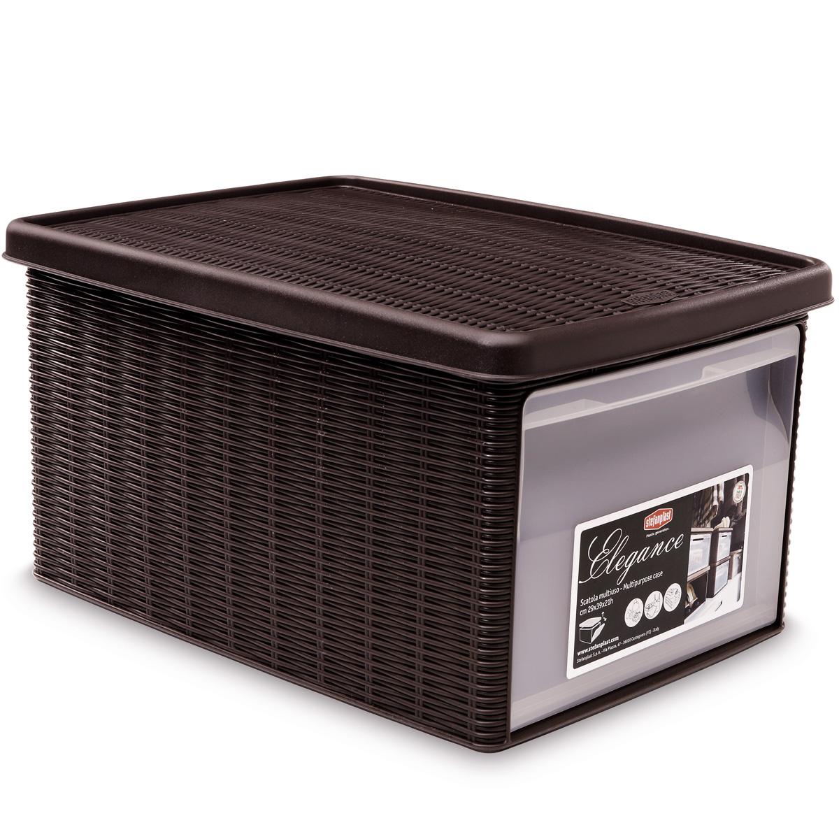 aufbewahrungsbox organiser kunststoff schuhbox stapelbox rattan box stapelbar ebay. Black Bedroom Furniture Sets. Home Design Ideas