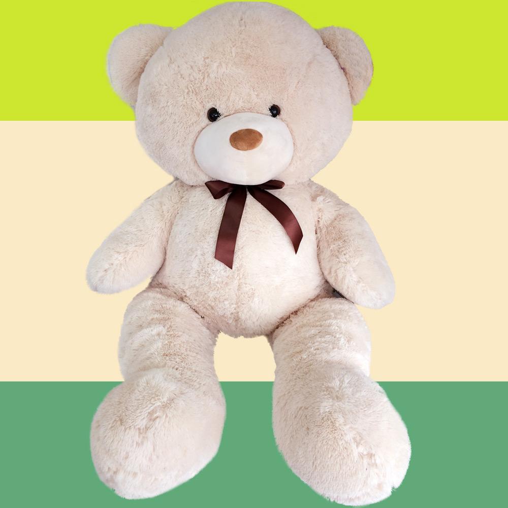 Großer 60 cm Teddy XXL Teddybär Riesiger Kuscheltier Plüschtier Stofftier braun