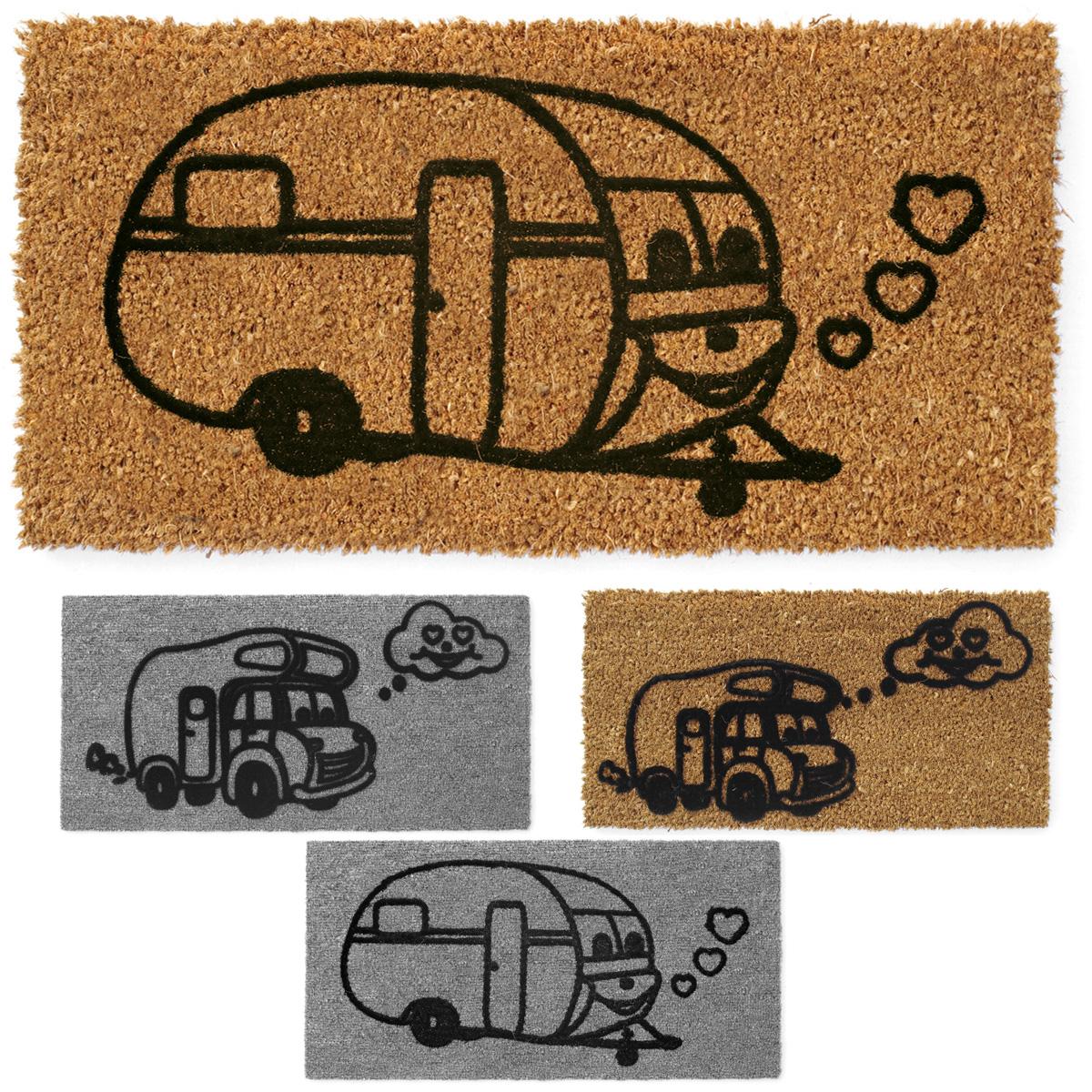 Wohnwagen Fußmatte für Trittstufe 25x50cm Wohnmobil Camping Kokosmatte Nadelfilz