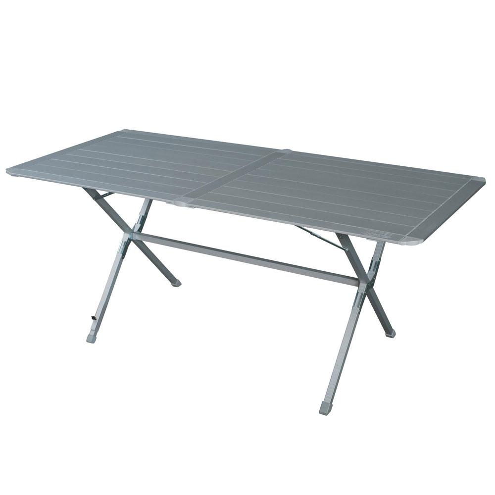 camping tisch alu rolltisch klapptisch gartentisch wohnwagen tisch klappbar 160 ebay. Black Bedroom Furniture Sets. Home Design Ideas