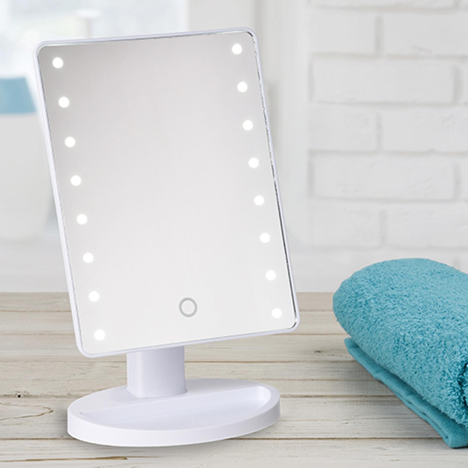 led kosmetikspiegel stand spiegel beleuchtet tischspiegel. Black Bedroom Furniture Sets. Home Design Ideas