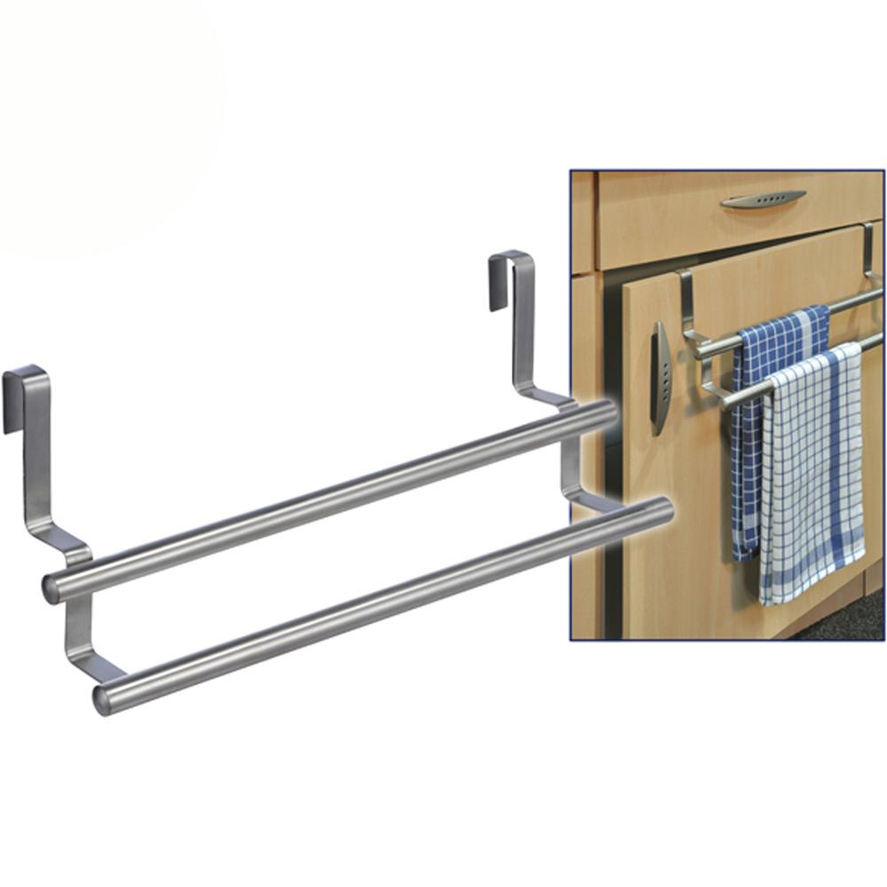 Küche Handtuchhalter doppelt Handtuchstange Tür Türhandtuchhalter ...
