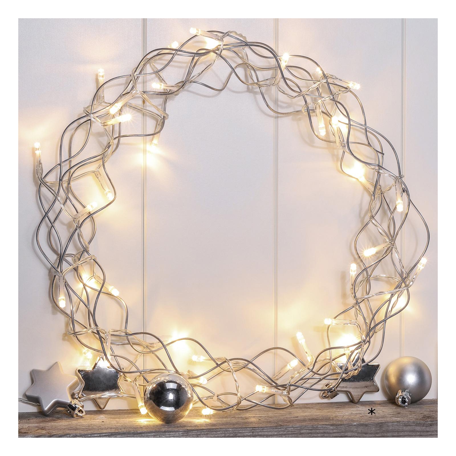 Weihnachtsbeleuchtung Kranz.Beleuchteter Türkranz Led Metall Kranz Weihnachtsbeleuchtung