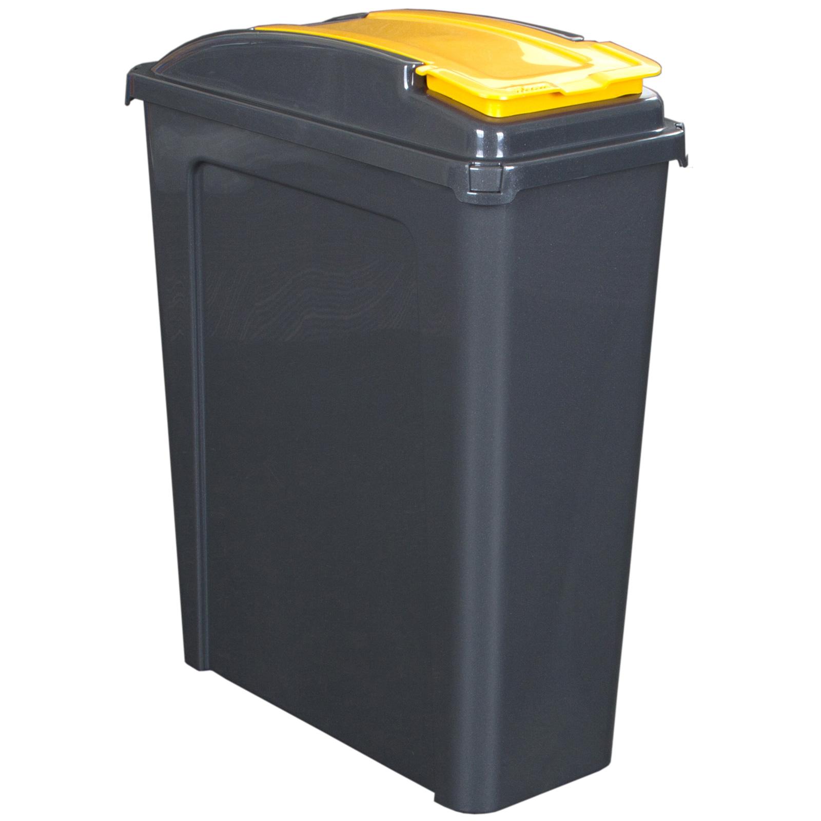 Muelleimer-50-25L-Abfalleimer-Deckel-Eimer-Papierkorb-Abfallsammler-Recycling