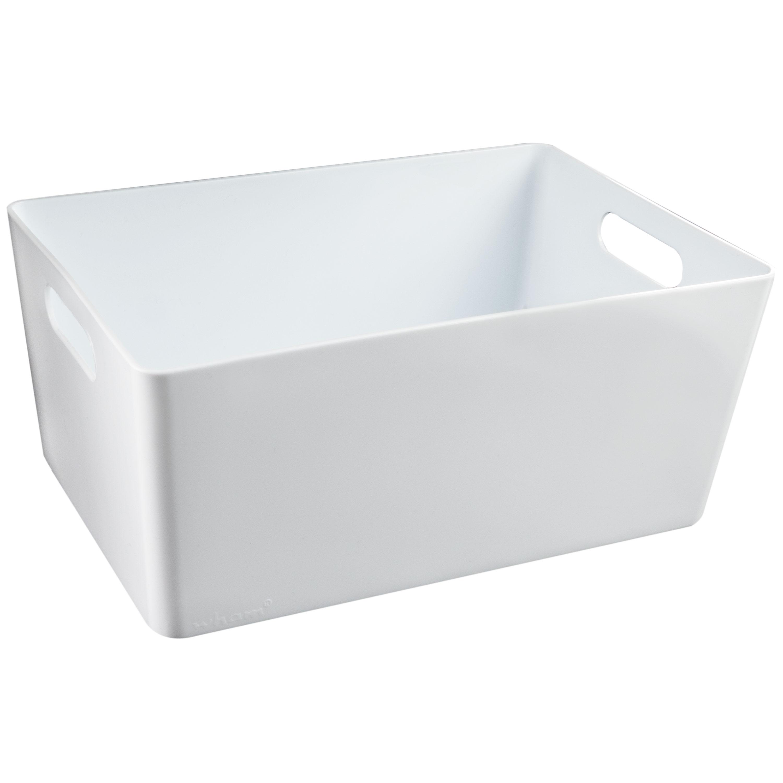 Korb-Aufbewahrungskorb-Organiser-Ordnungsbox-Sortierbox-Schubladeneinsatz-weiss