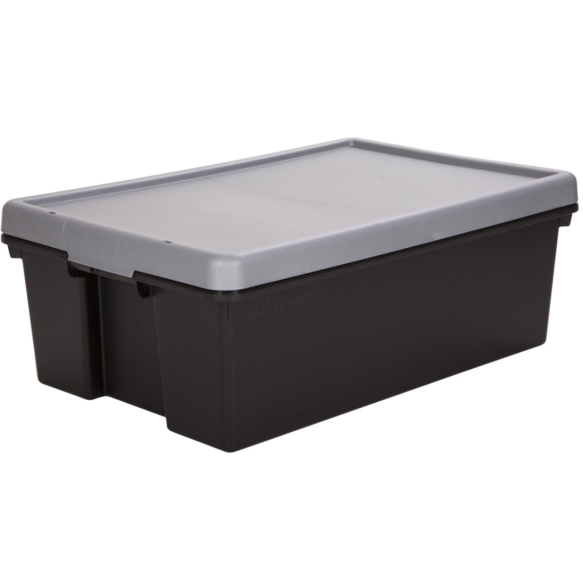 aufbewahrungsbox mit deckel stapelbox aufbewahrungs kiste kunststoff plastik box ebay. Black Bedroom Furniture Sets. Home Design Ideas