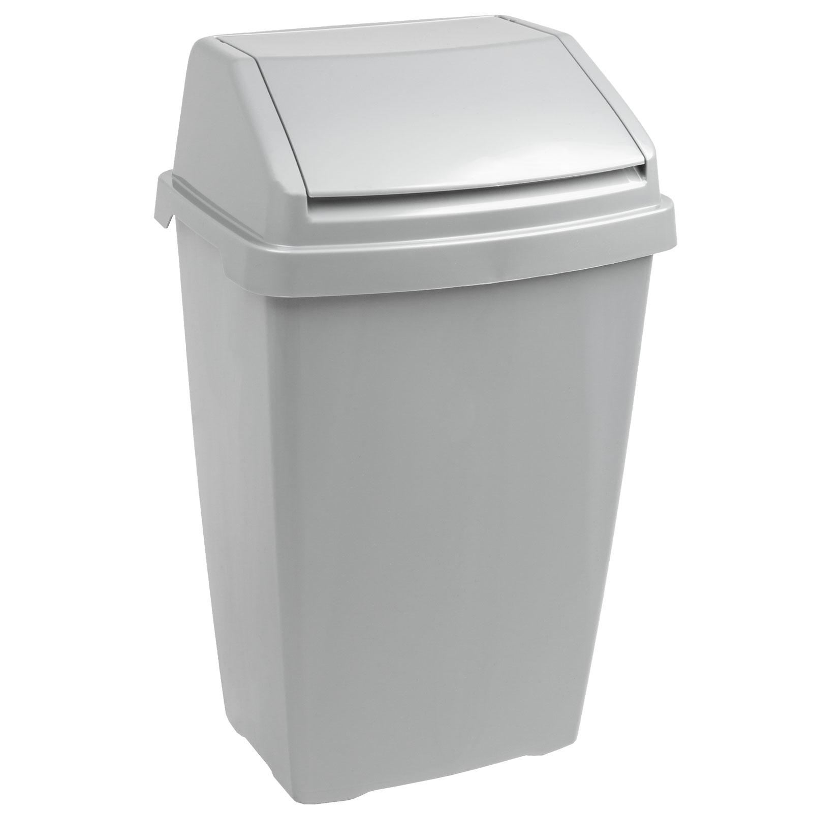 Hausmüll Holzmaserung Mülleimer Papierkorb  Recycling Container Abfalleimer 10L