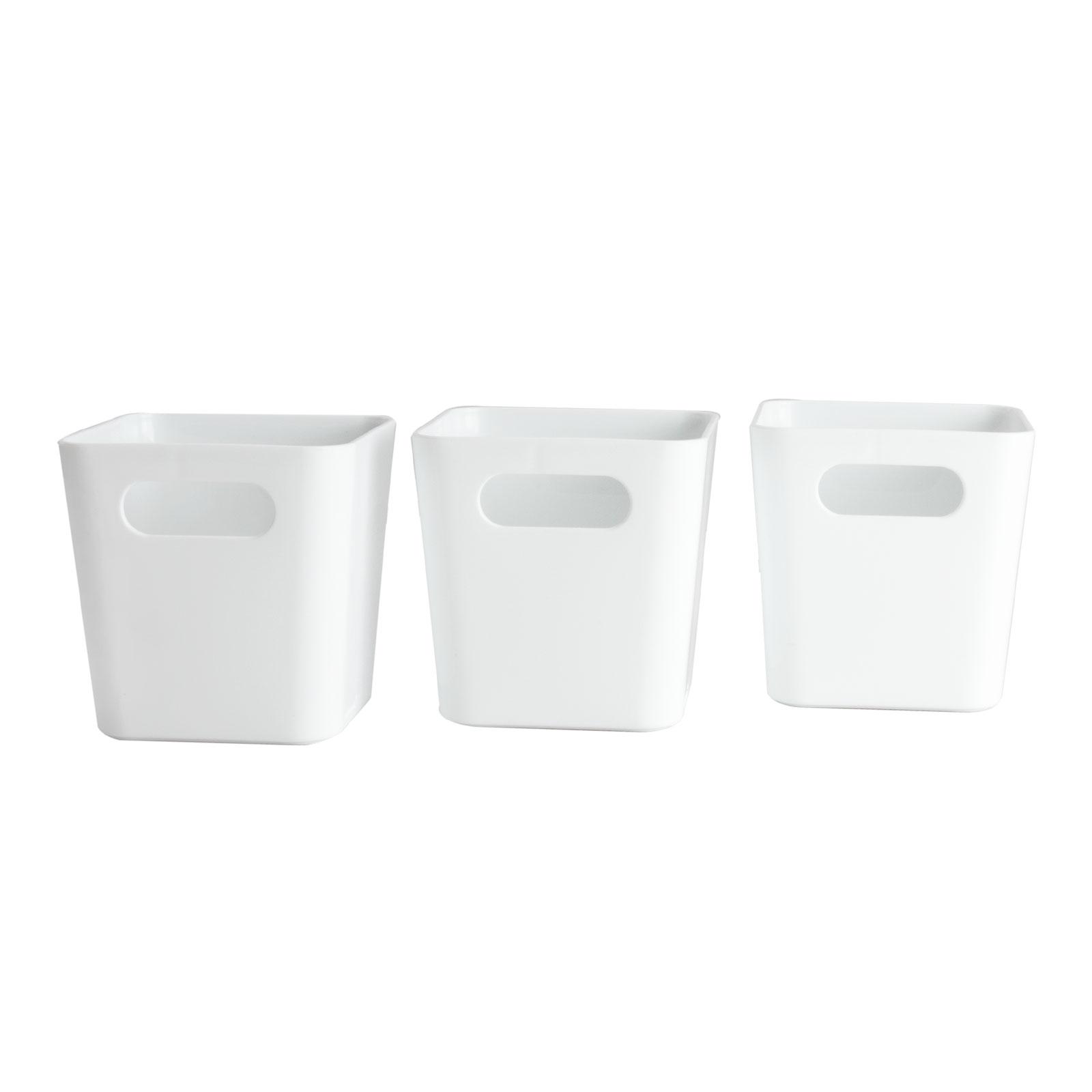 3 x Organizer Box Ordnungssystem Aufbewahrung Schublade Aufbewahrung Korb Bad