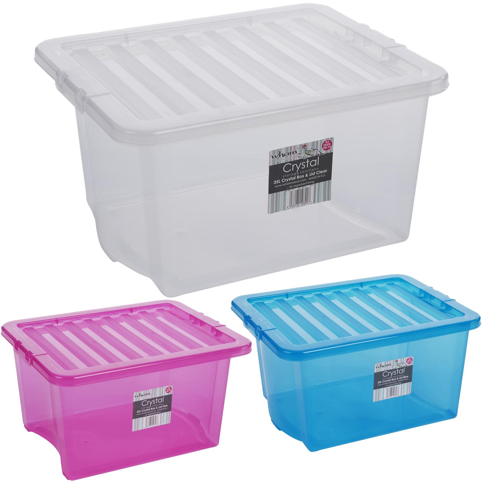 aufbewahrungsbox deckel multifunktions box kunststoff spielzeug stapel kiste xxl ebay. Black Bedroom Furniture Sets. Home Design Ideas